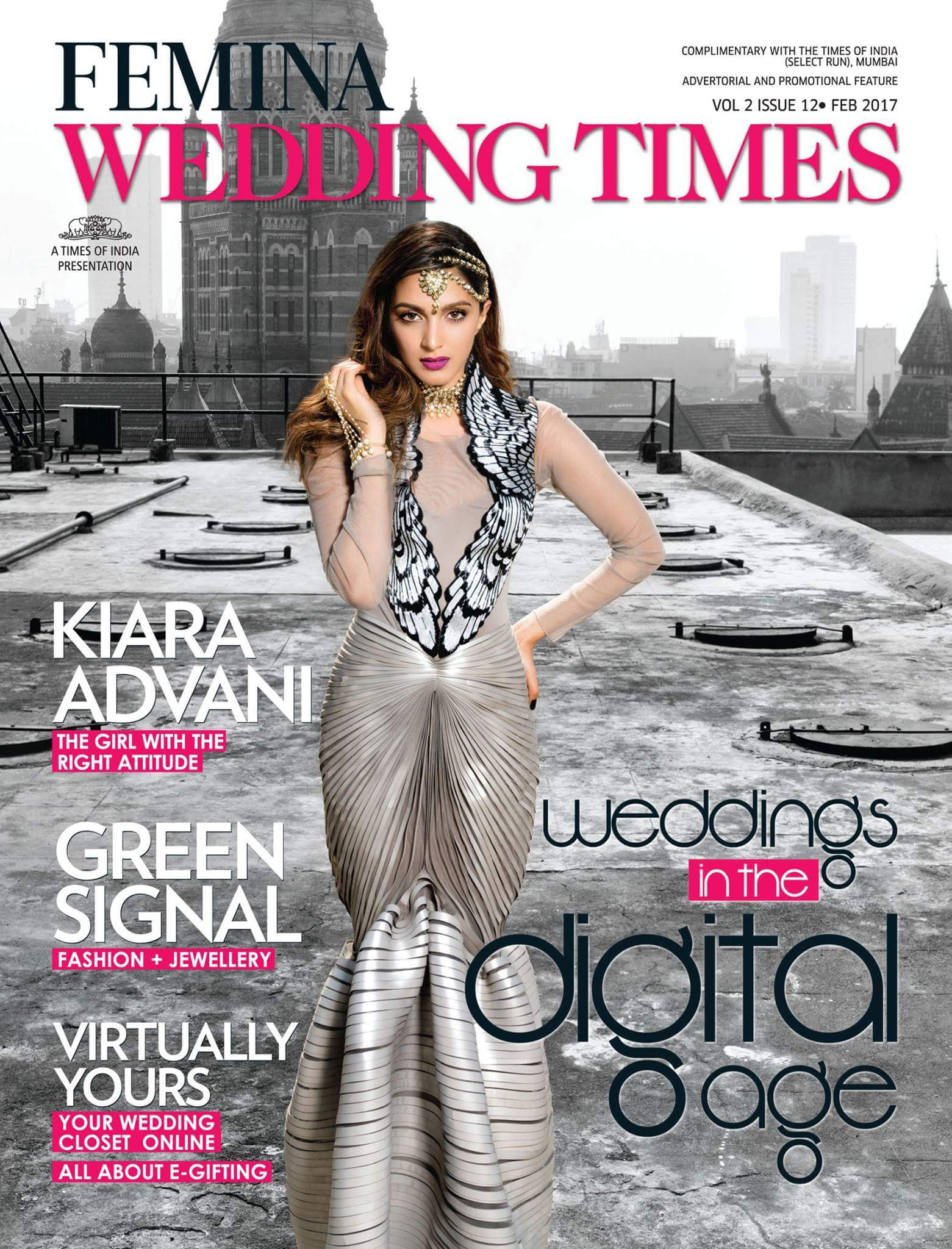 Femina Wedding Times Cover | Kiara advani